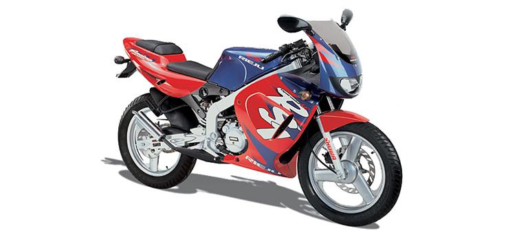 Onderdelen Rieju RS1 rood-blauw 2001 2-takt