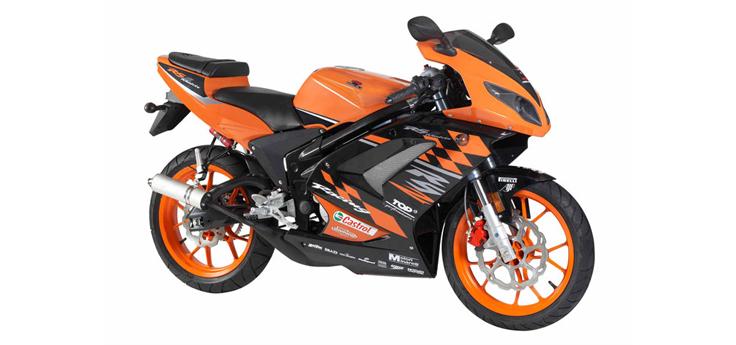 Onderdelen Rieju Rs2 pro oranje 2009 2-takt