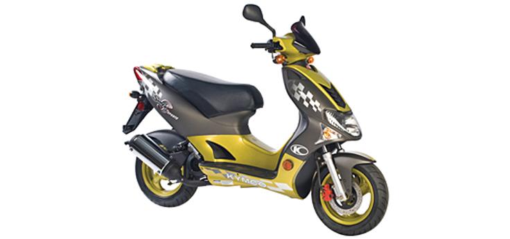 Onderdelen Kymco Super9 AC 2-takt nieuw model geel - zwart