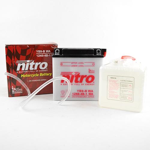Accu YB9-B(n) Nitro inclusief accuzuur