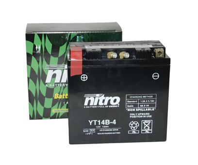 Accu YT14B-4 Nitro onderhoudsvrij (gel)