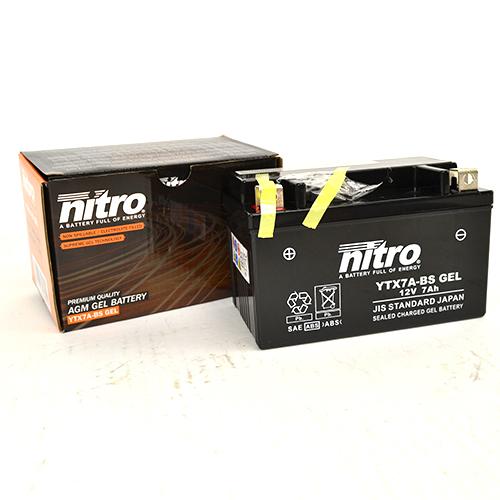 Accu YTX7ABS Nitro onderhoudsvrij (gel)