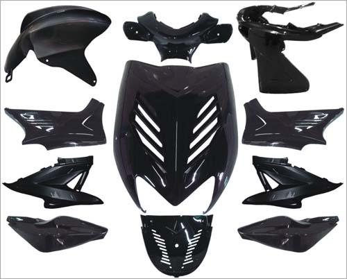 Kappenset special Yamaha Aerox Dmp 11 delig zwart