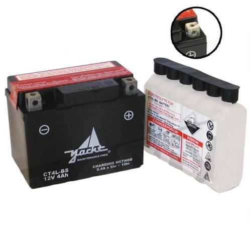 Accu CT4L-BS (YTC4L-BS) onderhoudsvrij inclusief zuurpakket
