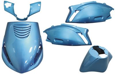 Kappenset Piaggio Zip (2000) Dmp 5 delig licht blauw
