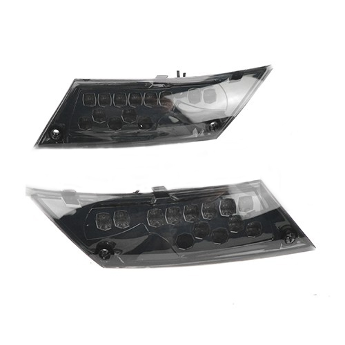 Knipperlicht LED set (achterkant) Piaggio Zip 2000 DMP Audi Look smoke (v)