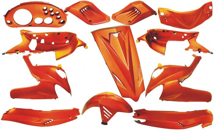 Kappenset special Gilera Runner Dmp 12 delig metallic amber