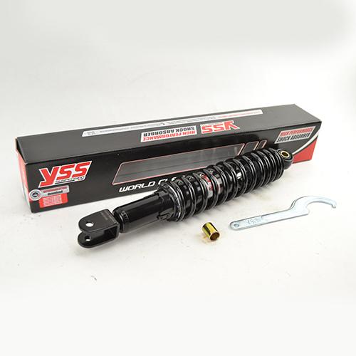 Schokbreker Pro-X serie GY6 scooters 330mm zwart YSS