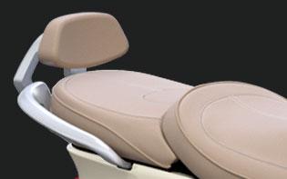Sissybar + rugkussen Peugeot Django beige origineel