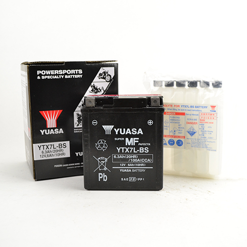 Accu YTX7L-BS Yuasa onderhoudsvrij inclusief zuurpakket