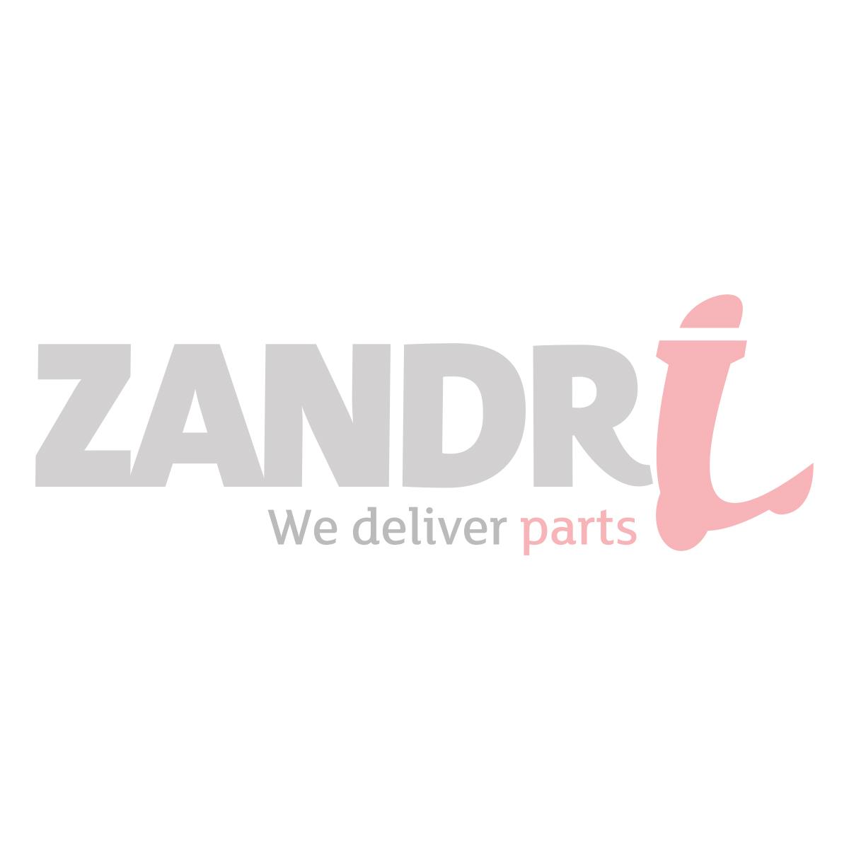 Buddydek / Zadelhoes Piaggio Zip chesterfield zwart / rood