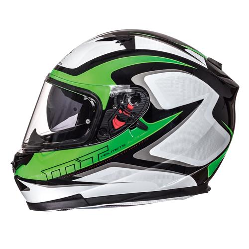 Helm integraal MT Blade Morph fluor groen / grijs
